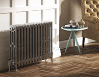 DQ radiator cast iron- 3d interior cgi
