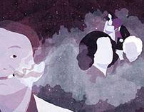 Editorial illustration - Houellebecq