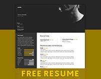 FREE Resume Template #Designer Edition.
