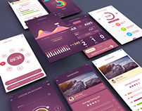 Dashboard UI Kit Mobile