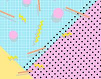 Memphis poster-patterns