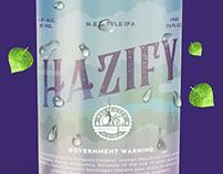 Hazify Beer Label