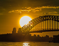 Golden Sunrise at Sydney Harbour