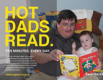 Save the Children - Hot Dads Read Campaign