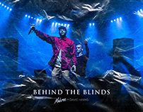 BEHIND THE BLINDS Cover Design