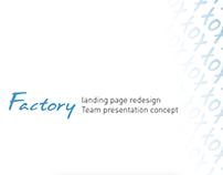 landing page redesign team presentation concept