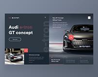 🚙🔋Audi e-tron GT Concept — Website Concept