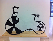 Bicycle-sculpture