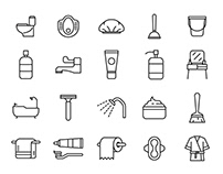 20 Bathroom Vector Icons