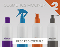 Cosmetics Packaging Mock-up / 200ml - 250ml