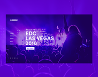 Insomniac Music Festival Website Concept