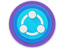 SHAREit App icon in material design