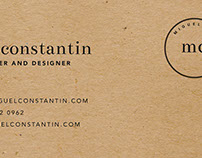 Miguel Constantin - Logo and Stationery Design