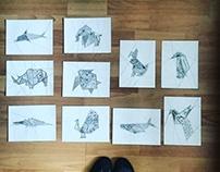 Origami animal series