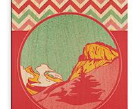 Cartes en bois Hautes Alpes Vintage