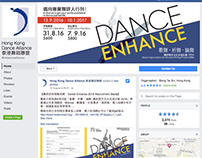 DANCE ENHANCE Leaflet and online ad design