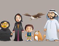 Character Design - Emirati Family