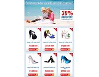 Fashion newsletter design