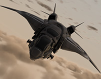 S.H.I.E.L.D Quinjet Modeling and Rendering