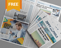 Free PSD Newspaper Mockup For Advertising Designs