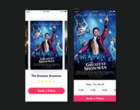Booking a movie ticket concept | Invision Studio