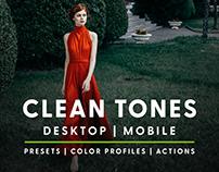 Clean Tones - Actions & Presets