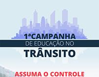 1ª campanha de educação no trânsito