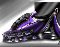 Futuristic sneakers design concept
