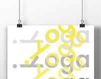 Yoga Typography Poster