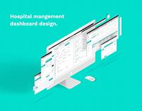 Hospital management dashboard design
