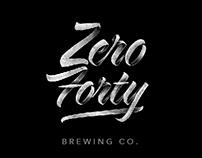 Zero 40 Brewery Logos and Application Mockups
