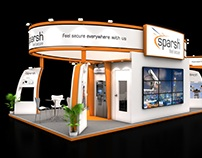 Sparsh Security 90 sqmtr. island stand design