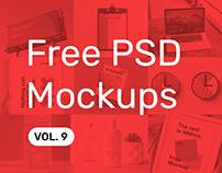 Free PSD Mockups vol. 9
