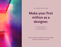 Make your first million as a designer