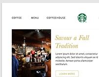 Starbucks Landing Page Redesign