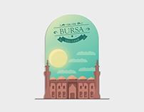Bursa Ulu Cami İllustrasyon Çalışması