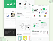 COVID-19 Website UI