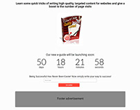 Every Word Product Launch Landing Page
