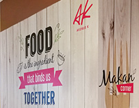 Wall Poster for a Food Corner