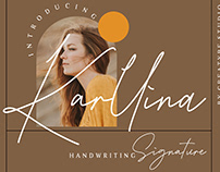 KARLLINA HANDWWRITING SIGNATURE - FREE FONT