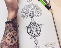 Balance Tattoo Design mil et une on behance