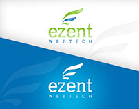 Ezent Webtech Logo Design  (Blue/Green)