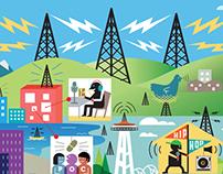 Low Power Radio Illustration :: City Arts Magazine