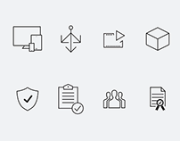 Set of new icons for Azion Inc.
