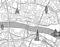 Agency Sectorlight London Map Drawing