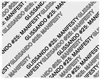 poster / glissando #25: manifesty