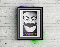 FSOCIETY - Fan Art Poster