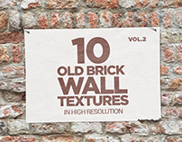 Old Brick Wall Textures x10 vol2