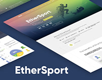 Landing page EtherSport - sports betting / website