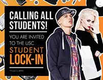 Student Lock-In - event graphics